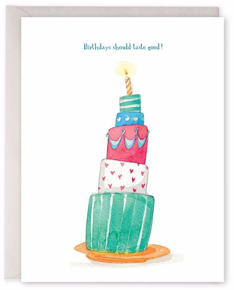Birthdays Should Taste Good Greeting Cards