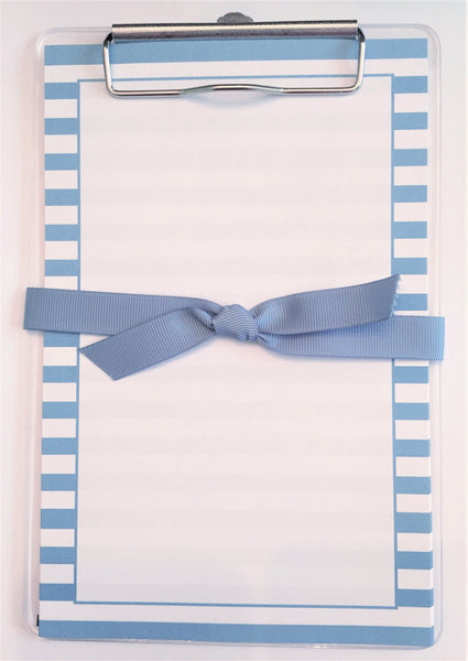Blue Stripe Clipboard