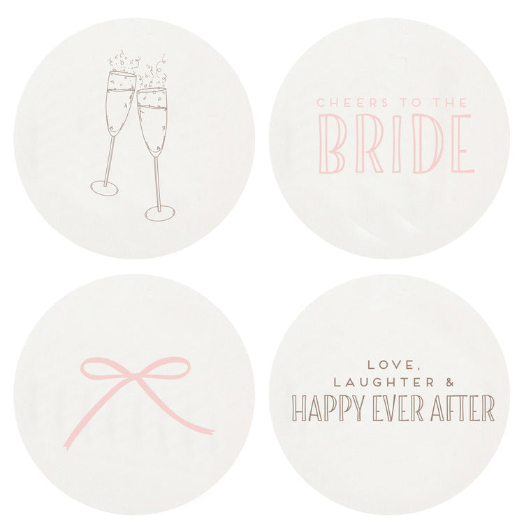 Bride Letterpress Coasters
