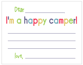 Happy Camper Notecards - Boy