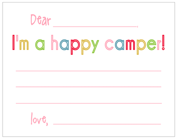 Happy Camper Notecards - Girl