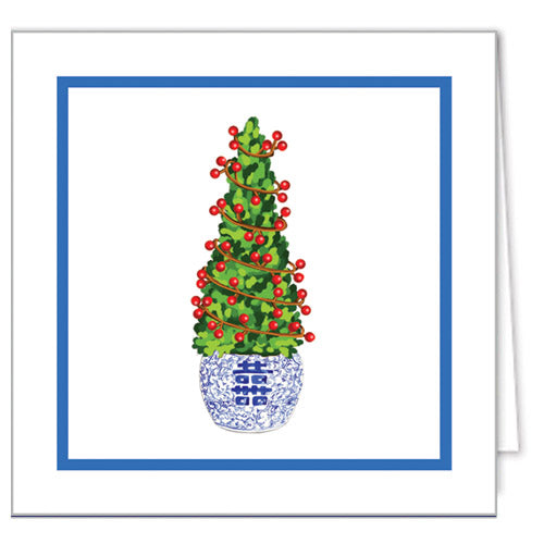 Christmas Boxwood Gift Enclosure Cards