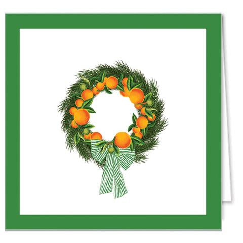 Citrus Wreath Gift Enclosure Cards