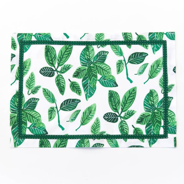 Green Ficus Cotton Placemats