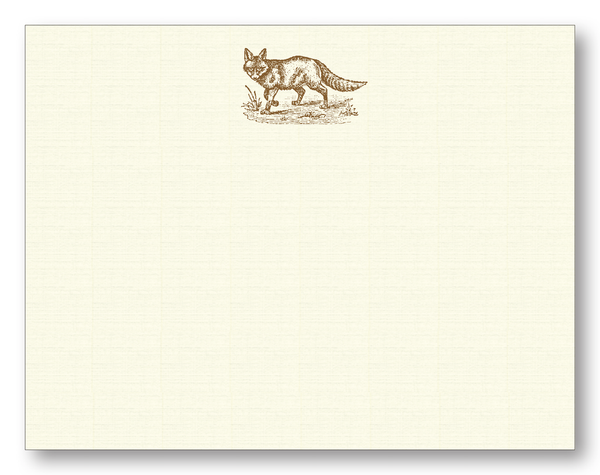 Fox in Chocolate Flat Notecards
