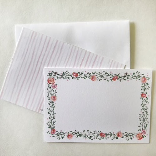 Floral Garland Flat Notecards