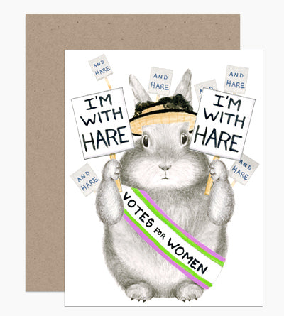 I'm With Hare Card