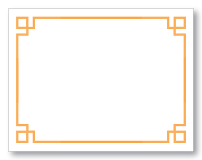 Greek Key Orange Notecards