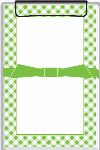 green gingham clipboard