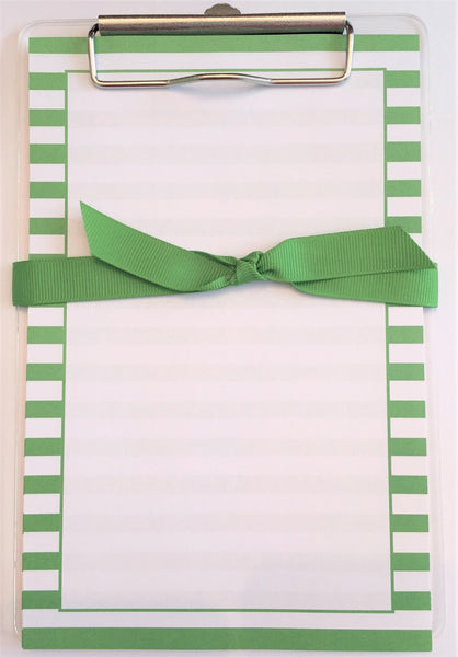 Green Stripe Clipboard