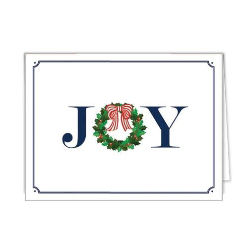 Joy Holly Wreath Notecards
