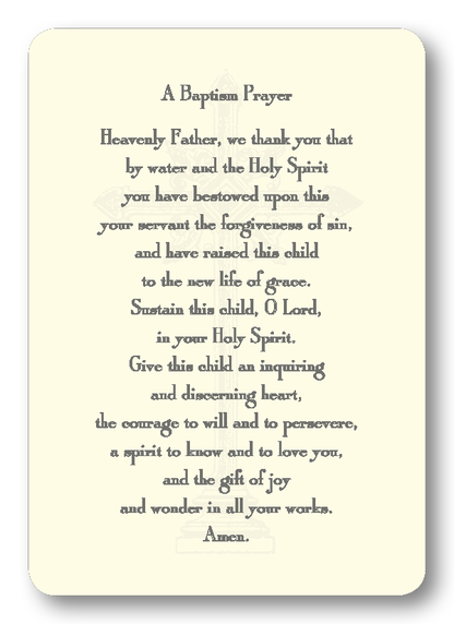 A Baptism Prayer Enclosure Cards