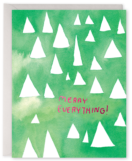Merry Everything Trees Greeting Card