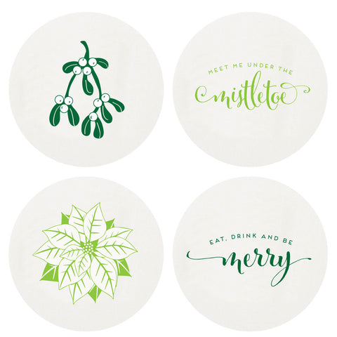 Mistletoe Coasters
