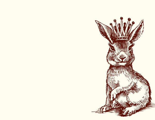 Royal Bunny Notecards