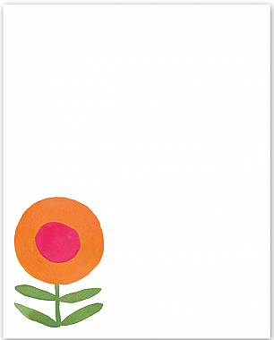 Flower Mini Notepad
