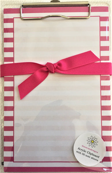 pink stripe clipboard