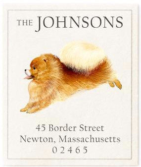 pomeranian address label