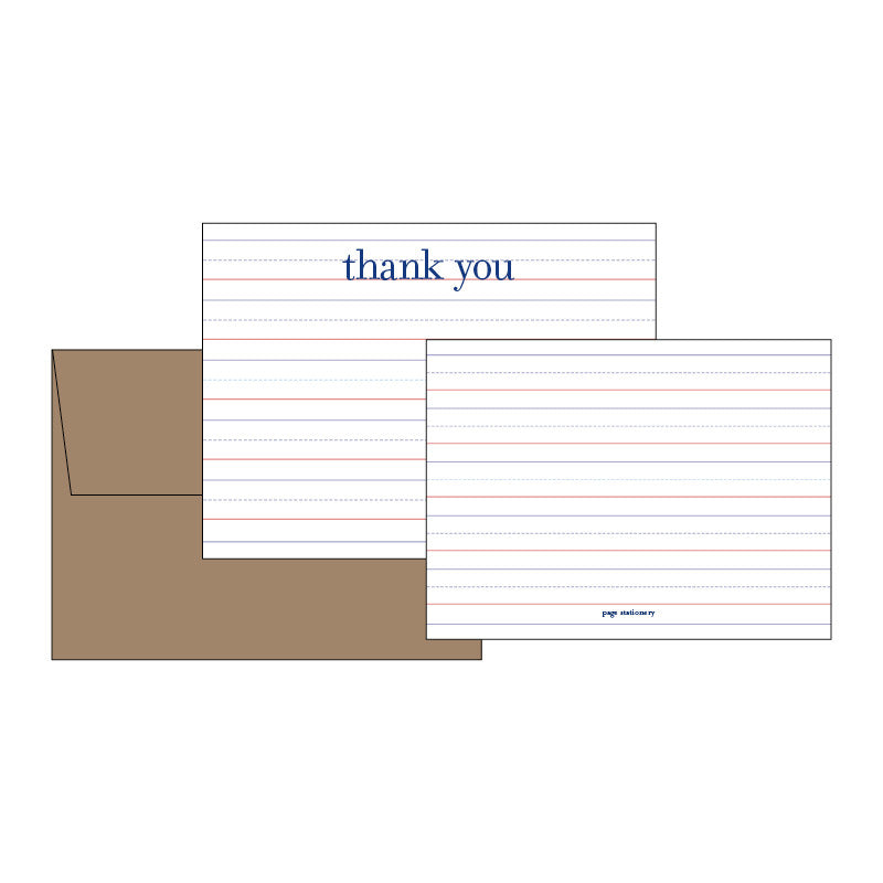 Primer Kids Thank You Notes