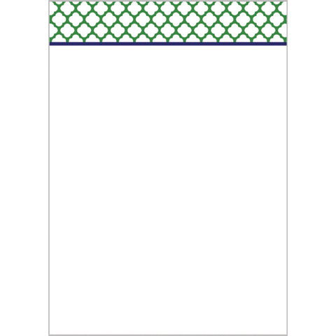 preppy clover notepad- green with navy blue