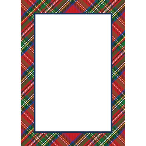 Red Tartan Plaid Notepad
