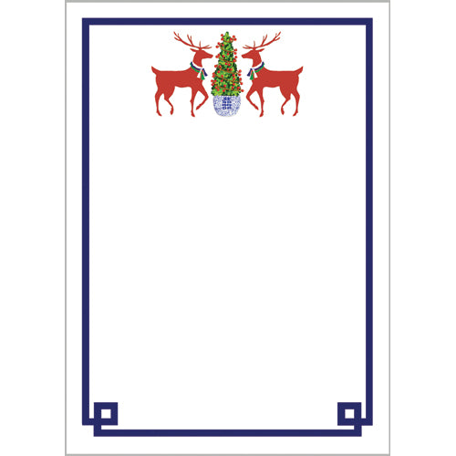 Reindeer Boxwood Notepad