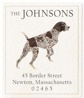 shorthaired pointer address label