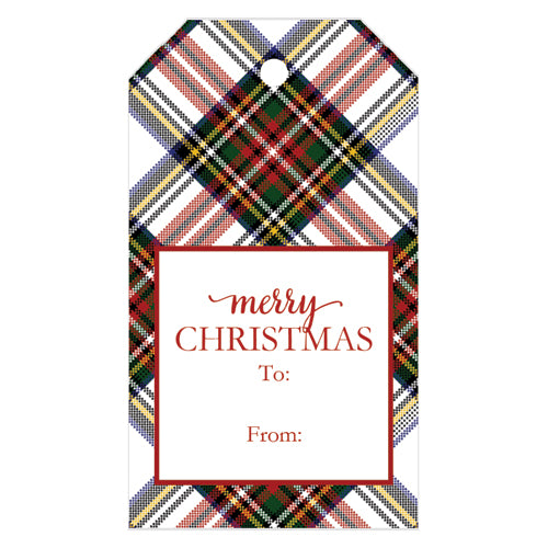Stewart Plaid Gift Tags