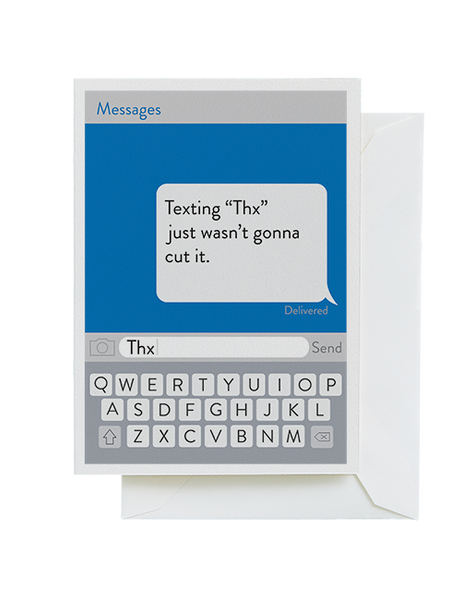 Text Thanks  Card
