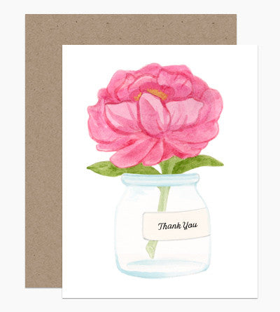 Thank You Peony Card