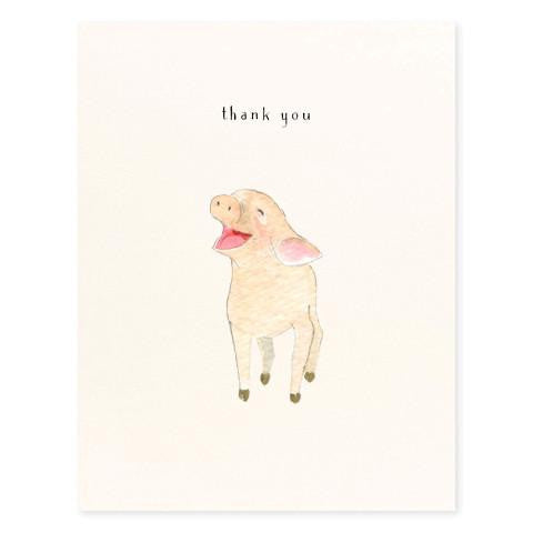 Happy Piglet Thank You Card