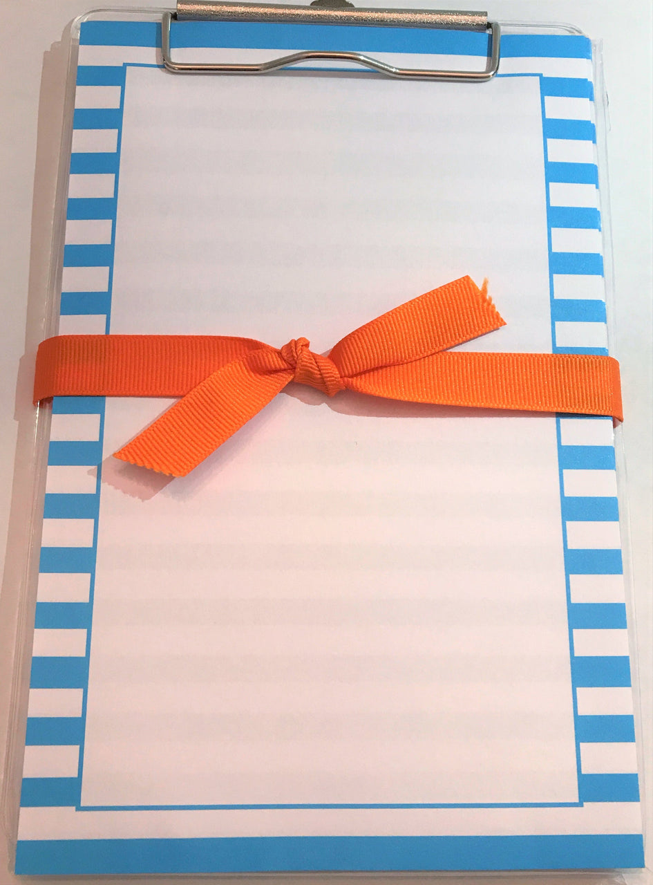 Turquoise Stripe Clipboard