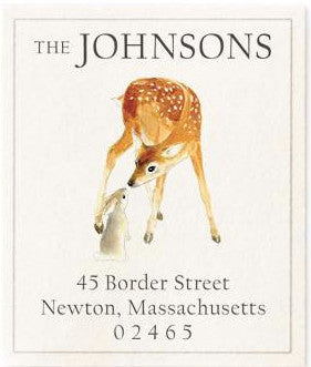 very deer address label