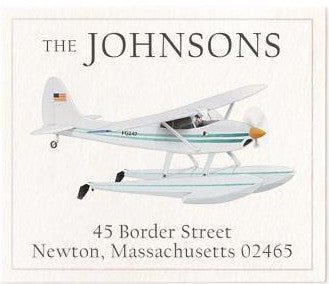 water glider address label
