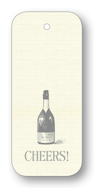 Wine Bottle Cheers Gift Tags