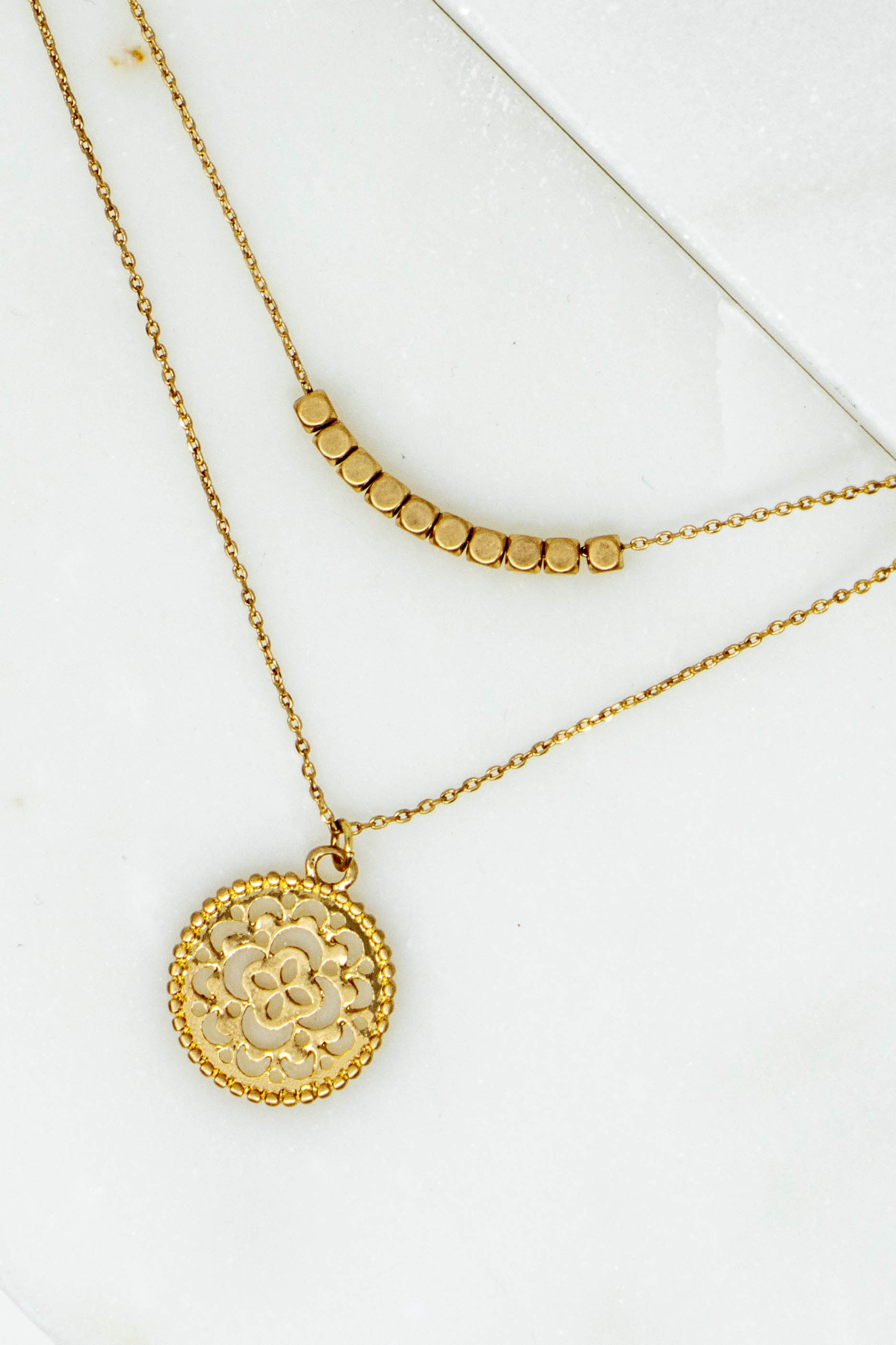 Filigree Circle Pendant Necklace