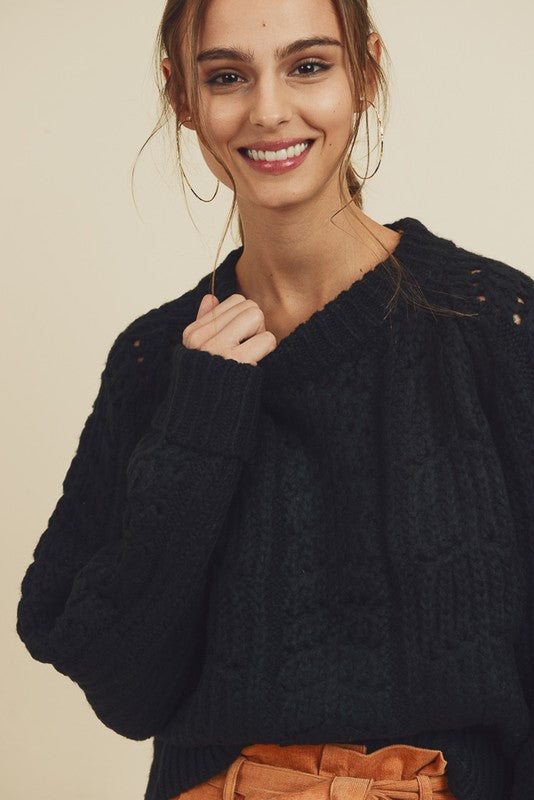 Black Chenille Sweater