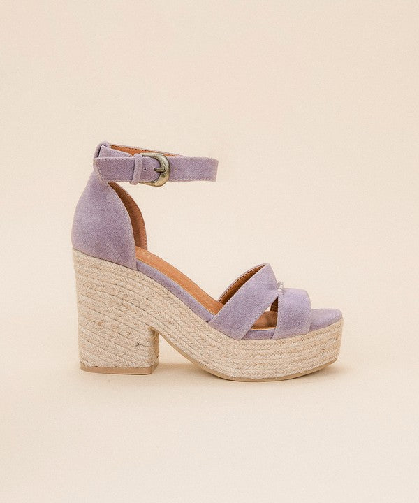 Chunky Wedge Espadrille Platform Sandals