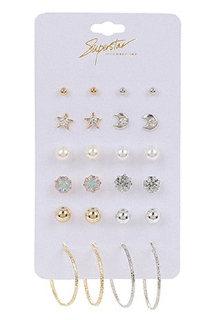 12 Pair Earring Set