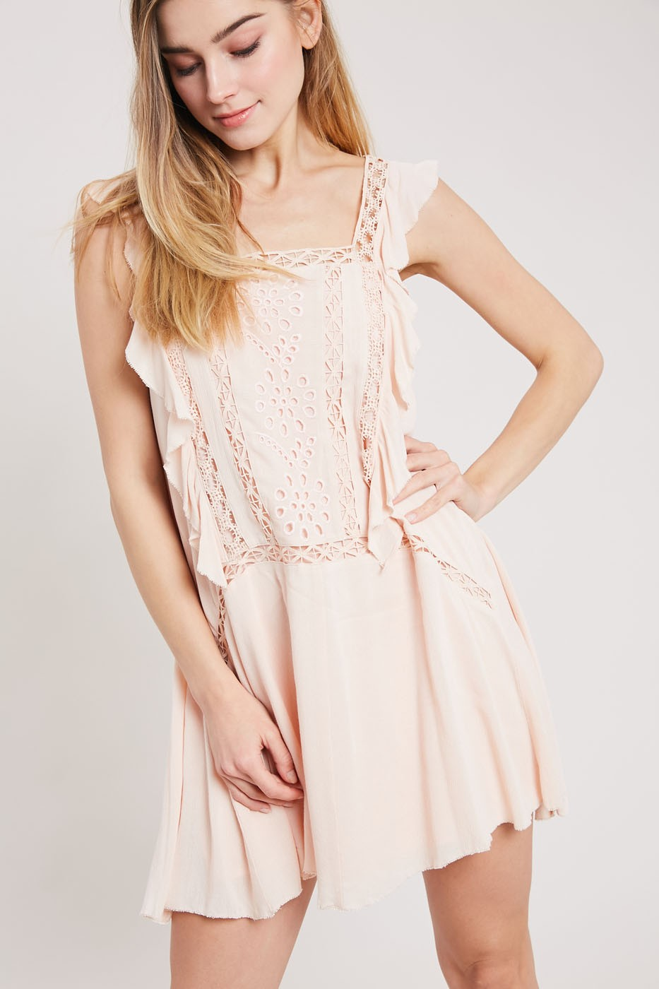 Crochet Ruffle Dress