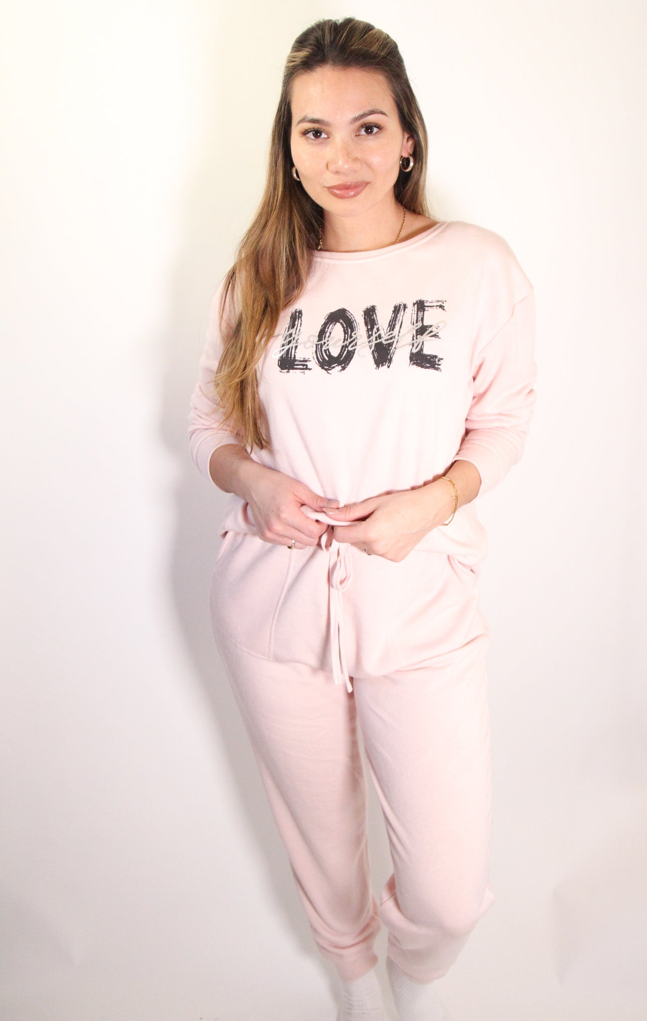 Pink Love Yourself Sweatshirt