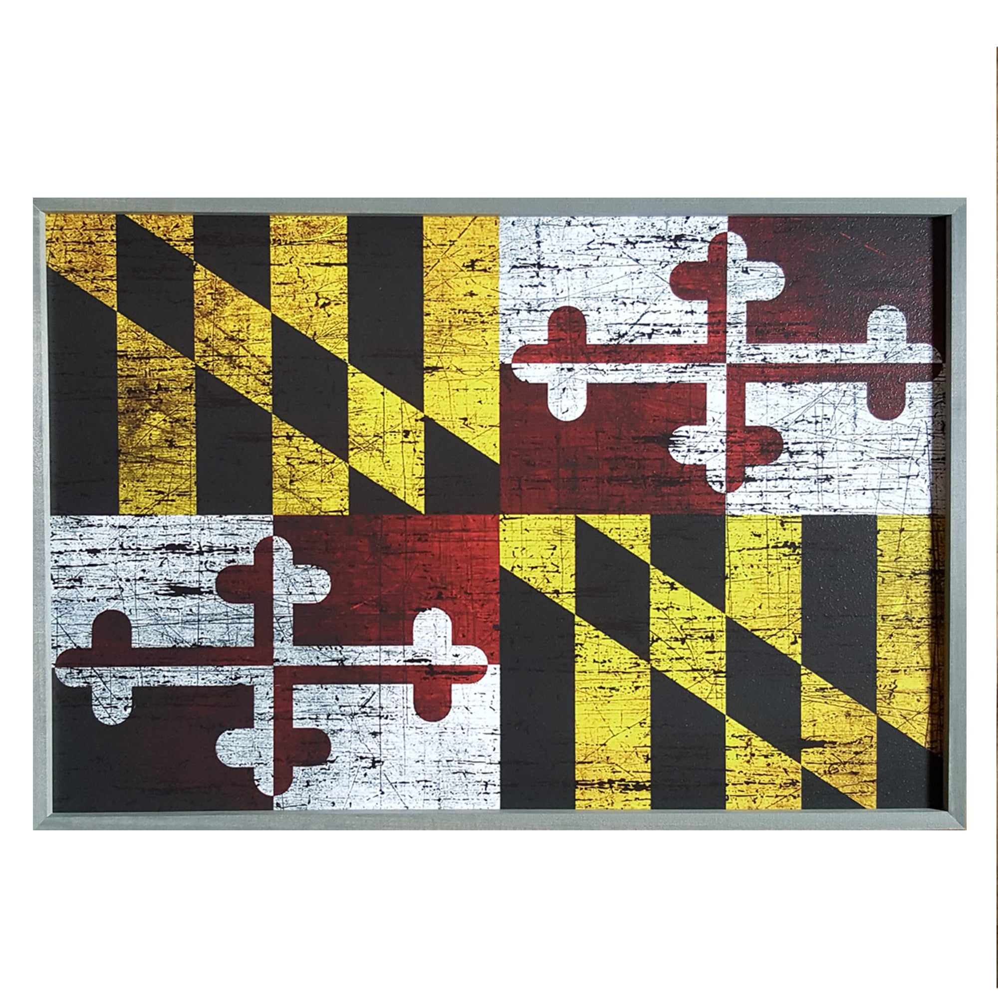 Maryland Flag Wall Art Sign - 2' x 3'