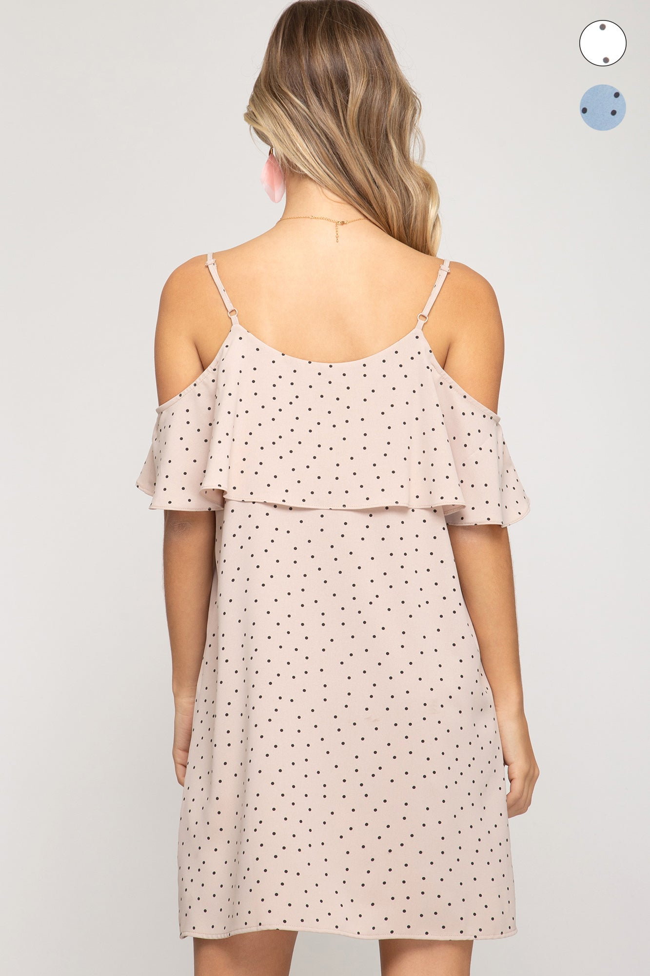 Cold Shoulder Flounce Dress