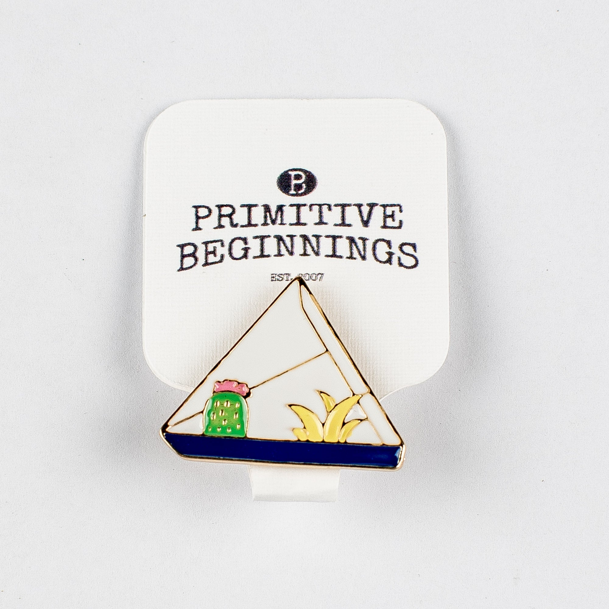 Triangle Terrarium Enamel Pin