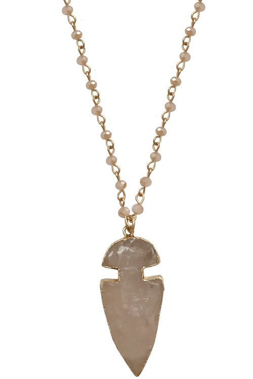 Arrowhead Stone Necklace