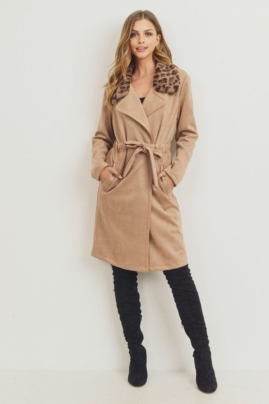 Leopard Collar Coat