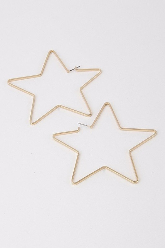 Flat Star Earrings