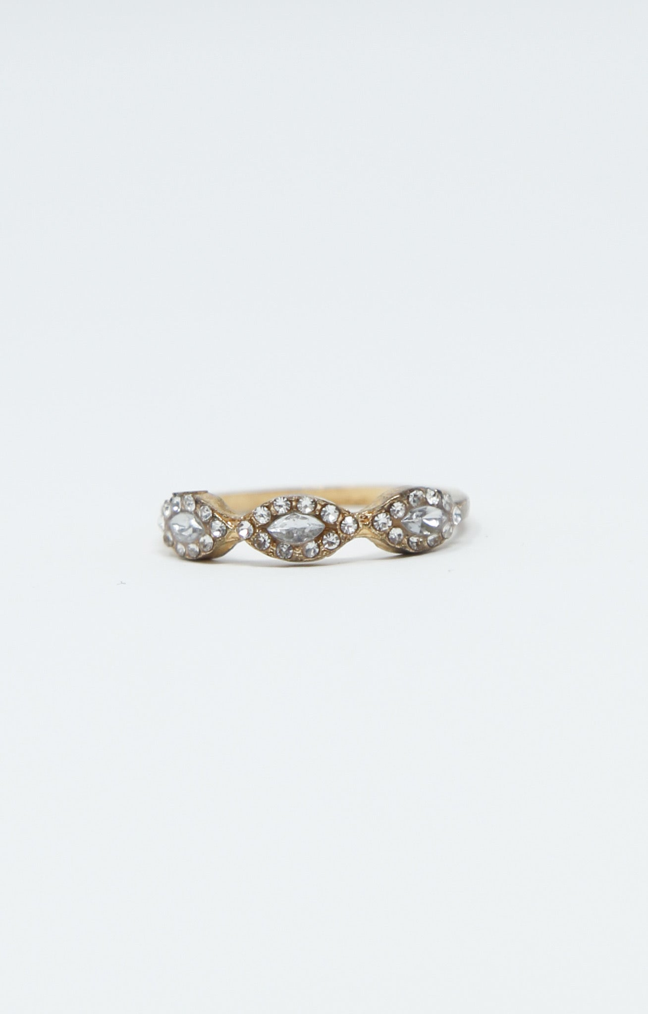 Magic Eye Crystal Trio Ring