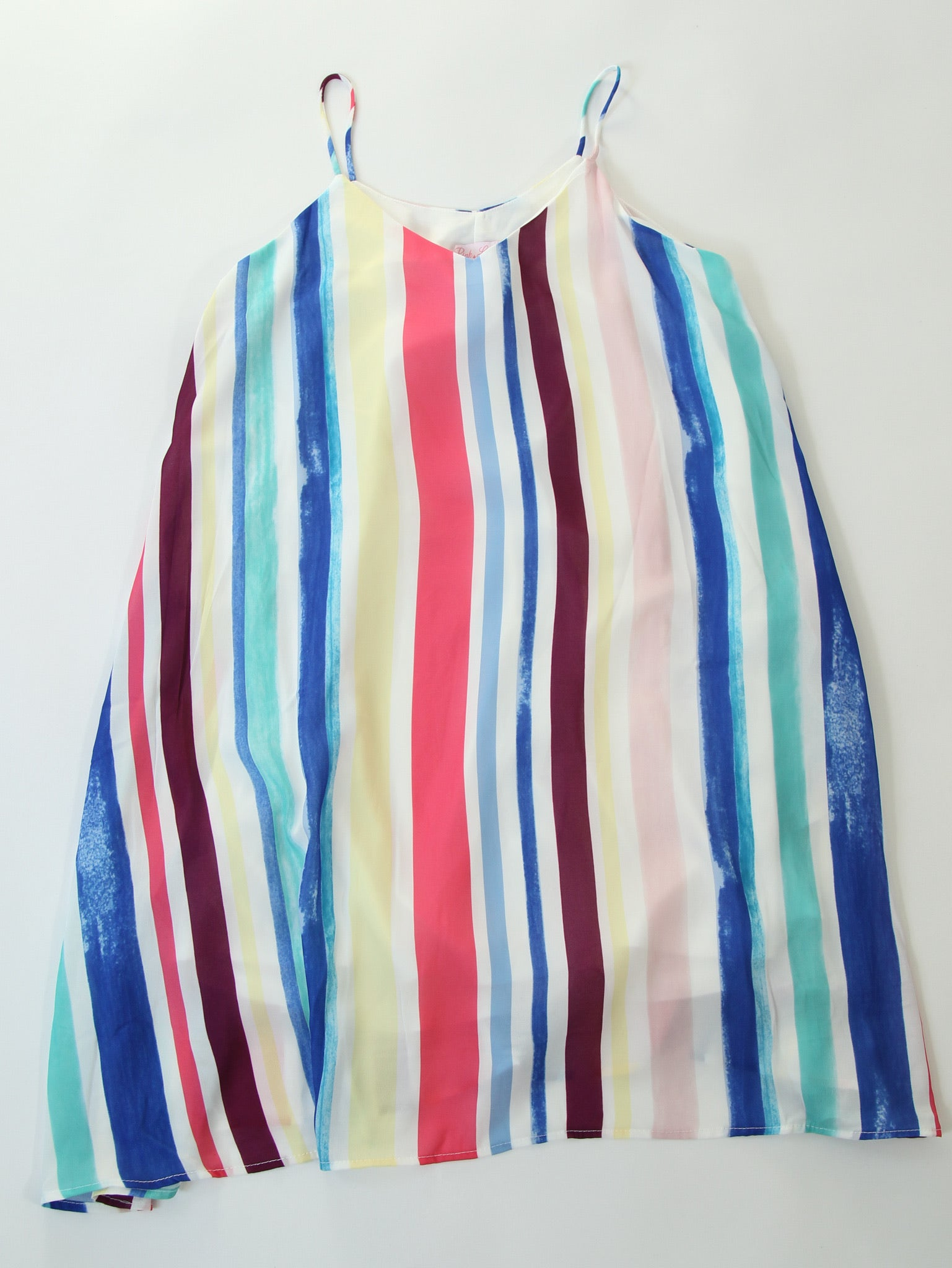 Multi Striped Swing Dress with Pockets