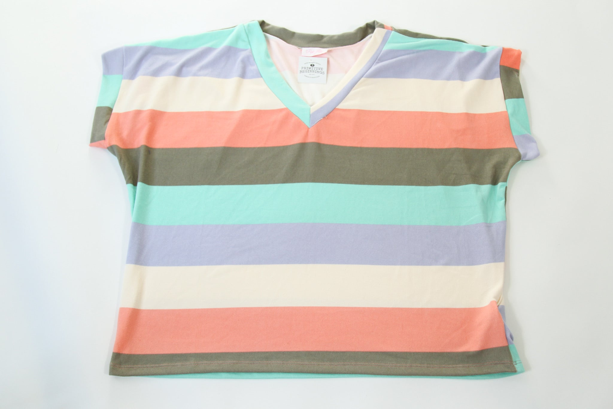Ultra Soft Striped V-Neck Top